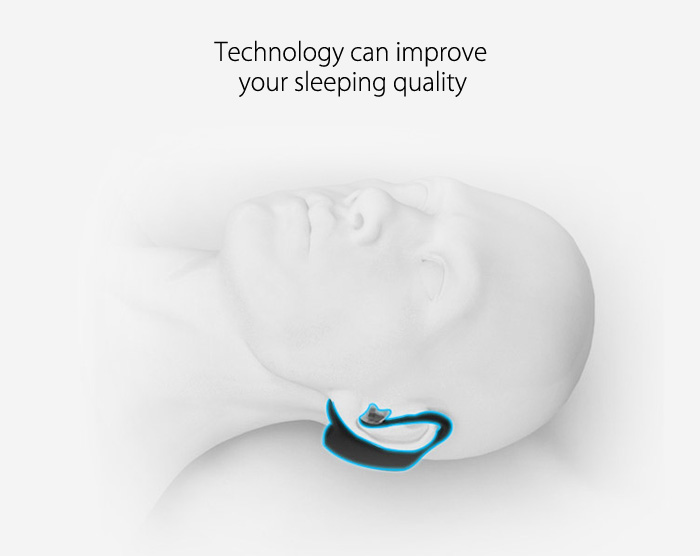 VVFly Bluetooth 4.0 Smart Headset Earphone Style Snore Stopper Anti-snoring Device