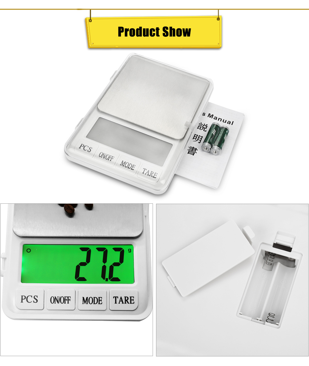 MH - 887 6kg 4.5 inch LCD Digital Scale with 0.1g High Accuracy