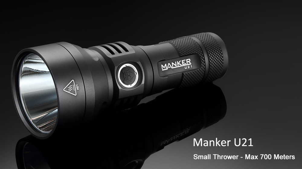 Manker U21 Cree XHP35 HI 1300Lm 18650 26650 Rechargeable LED Flashlight