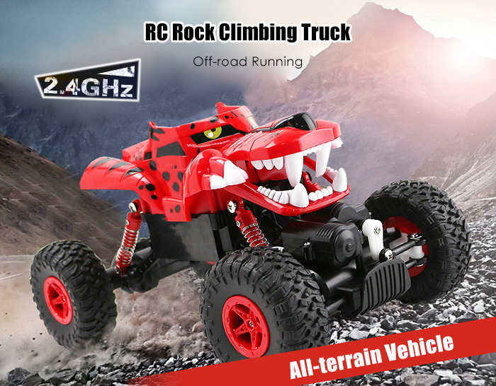 G03052R 1:18 RC Climbing Truck RTR 2.4GHz 4WD with Dual Motors All-terrain Tires for Off-road Running