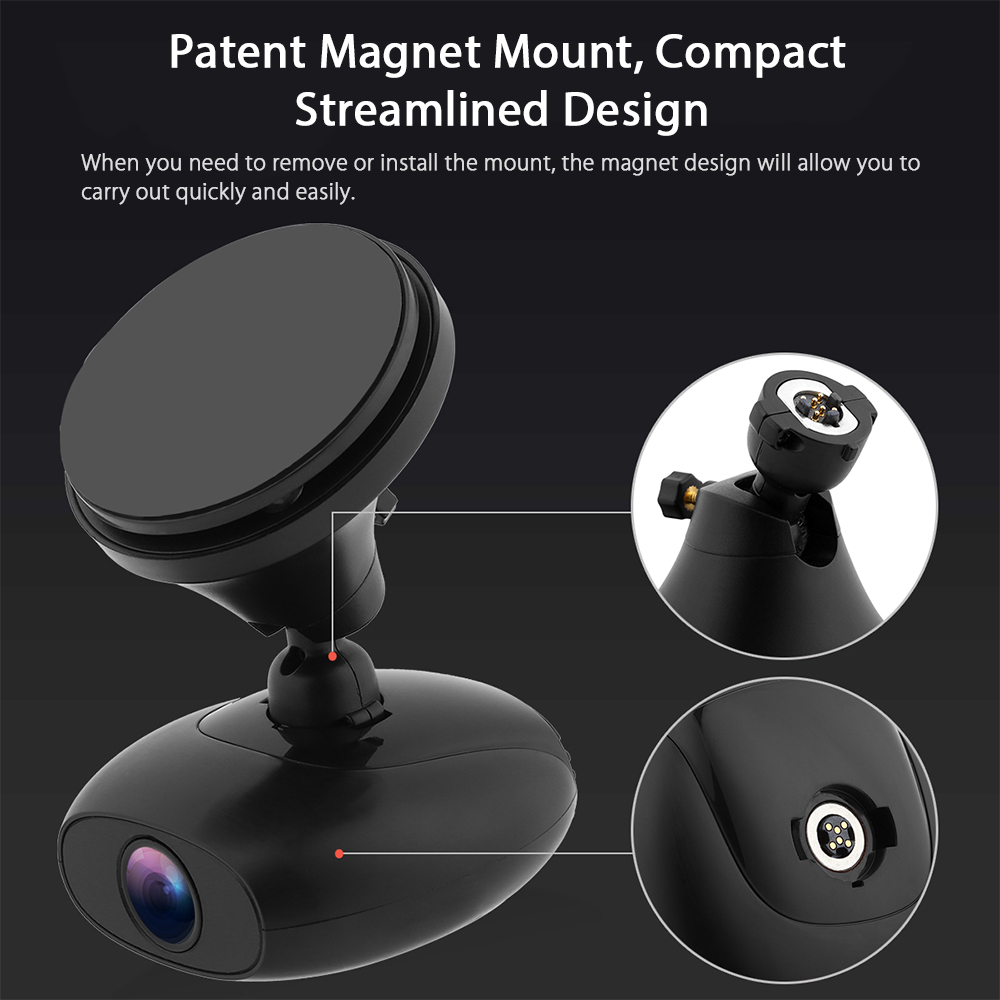 DDPai M4 1080P F1.8 Large Aperture GPS Car DVR Camera Support Remote Snapshot Loop Recording Built-in Dual WiFi with GPS