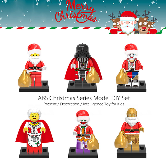 ABS Christmas Series DIY Model 6pcs Intelligence Development Toy for Kids