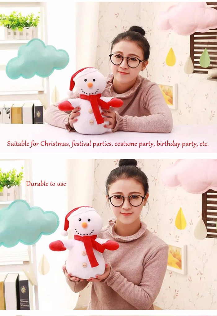 Santa Clause Figure Model Lovely Plush Doll Soft Cute Stuffed Toy - 11.8 inch