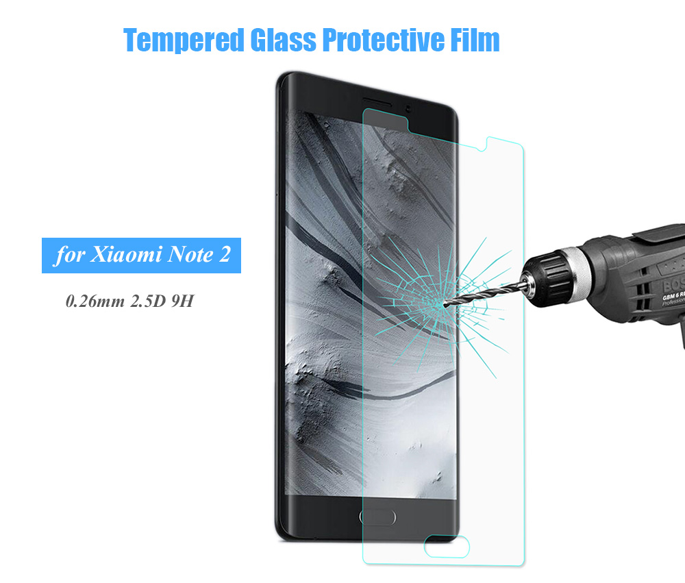 Hat Prince Tempered Glass Screen Protective Film for Xiaomi Note 2 Ultra-thin 0.26mm 2.5D 9H Explosion-proof Protector
