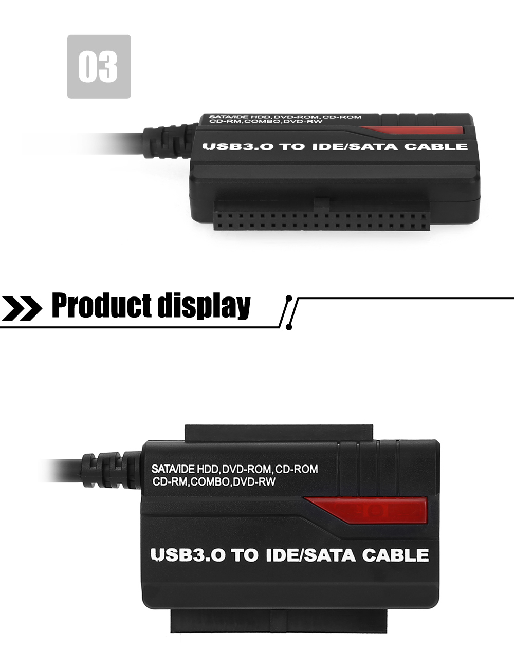 891U3 USB 3.0 to 2.5 / 3.5 inch IDE / SATA HDD Adapter for Desktop PC / Notebook