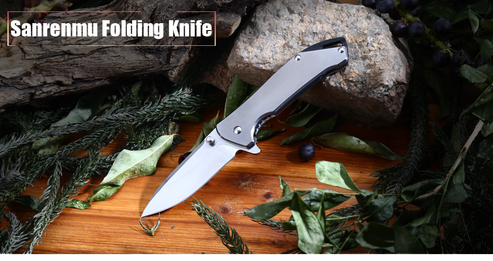 Sanrenmu 7089 LUX - SA Frame Lock Pocket Folding Knife with 12C27 Stainless Steel Blade