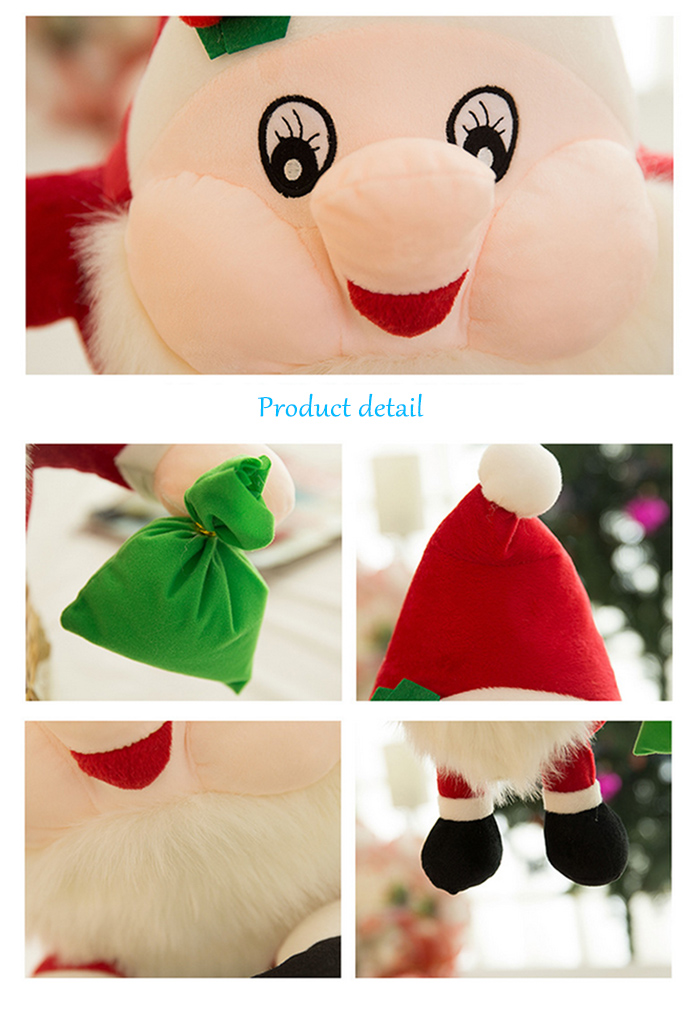 Santa Clause Figure Model Lovely Plush Doll Soft Cute Stuffed Toy - 9.84 inch