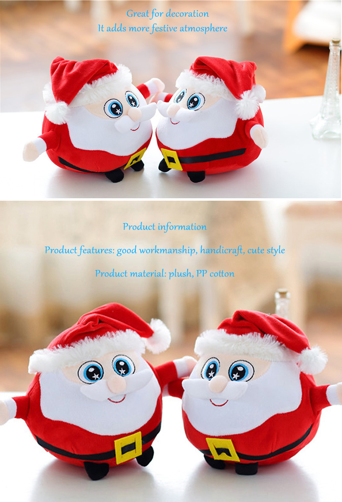 7.87 inch Santa Clause Figure Model Lovely Plush Doll Soft Cute Stuffed Toy - 1pc