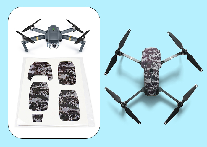 Fashionable PVC IP8 Level Waterproof Sticker for DJI Mavic Pro