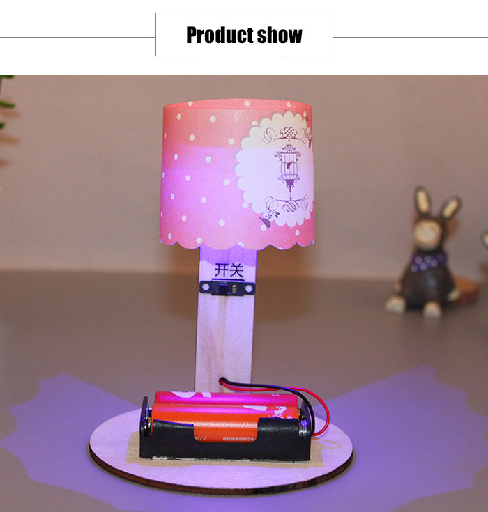 DIY 3D Puzzle Table Lamp Energy-saving Toy