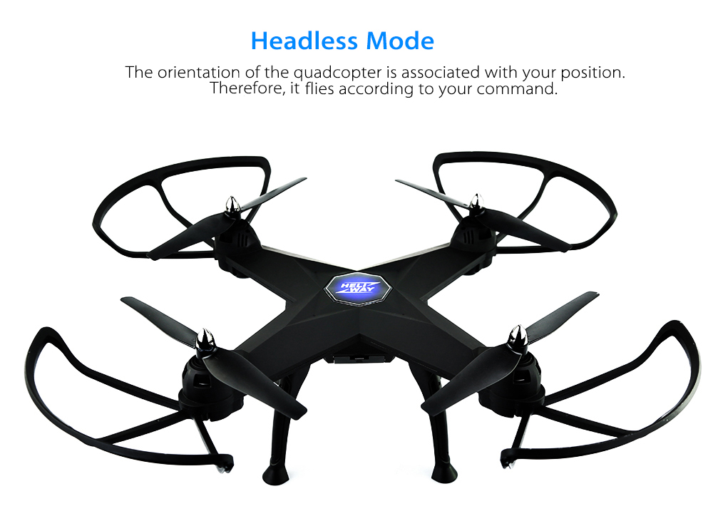 HELIWAY 908 RC Drone RTF WiFi FPV / 2MP Camera / 2.4GHz 4CH 6-axis Gyro / Air Press Altitude Hold / 360 Degree Rotation