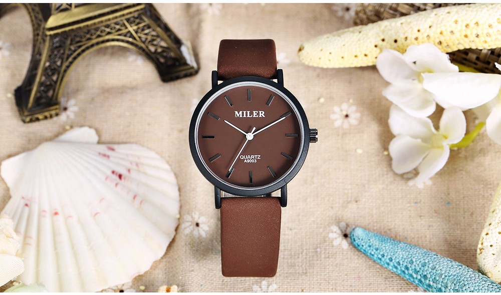 MILER A9003 Pure Color Casual Male Quartz Watch Nail Scale Wristwatch
