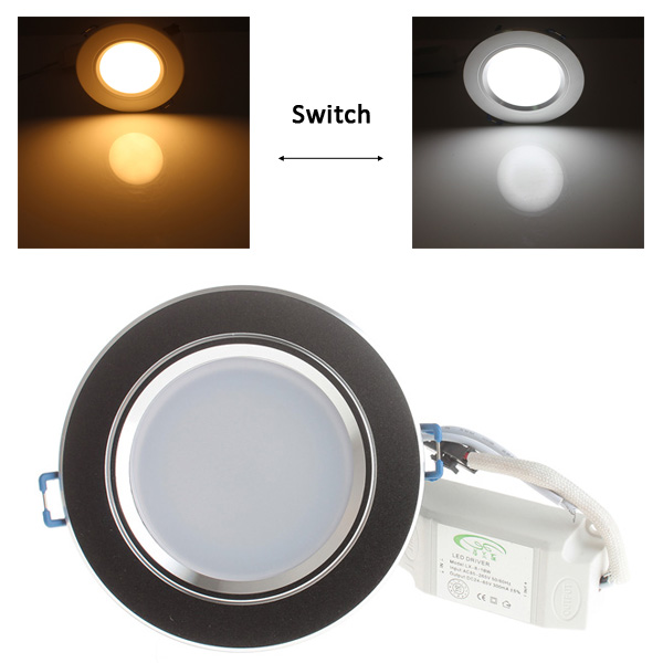 LUO 10W 20 SMD 5730 800Lm 3000 - 6000K Dimmable Recessed LED Ceiling Panel Lamp