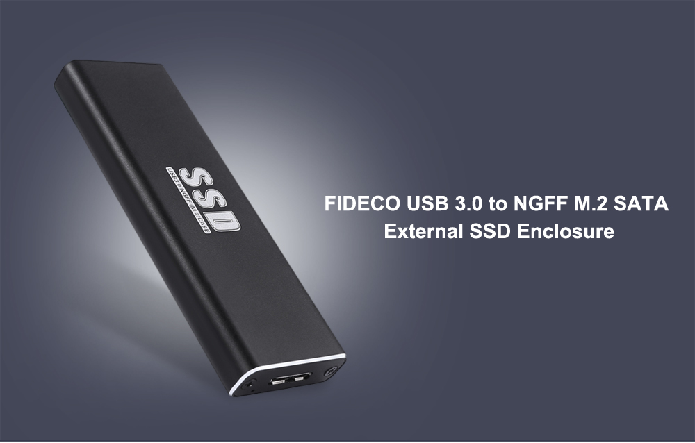 FIDECO USB 3.0 to NGFF M.2 SSD Hard Disk Box Metal Enclosure Case