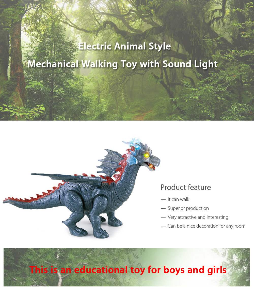 Electric Pterosauria with Roaring Sound Toy Children Present