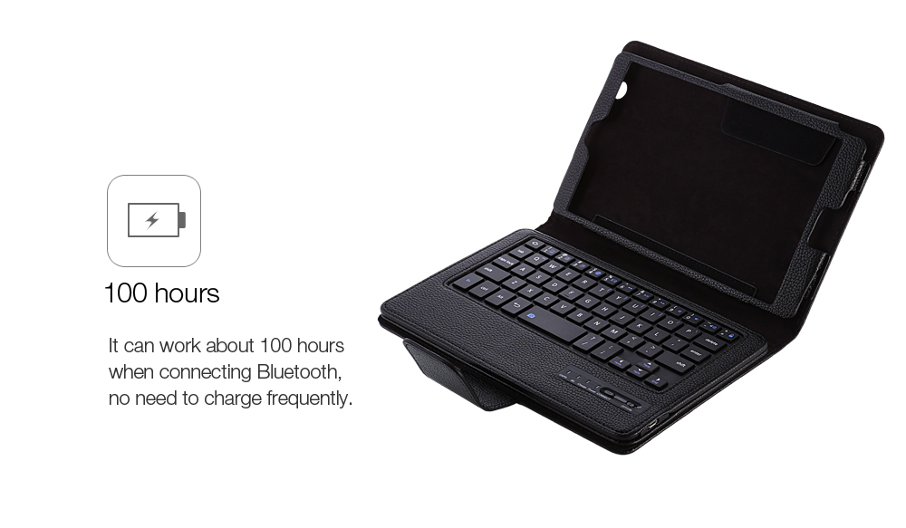 BTV - DL09 8.4 inch PU Leather Protective Bluetooth Keyboard Case for Huawei MediaPad M3