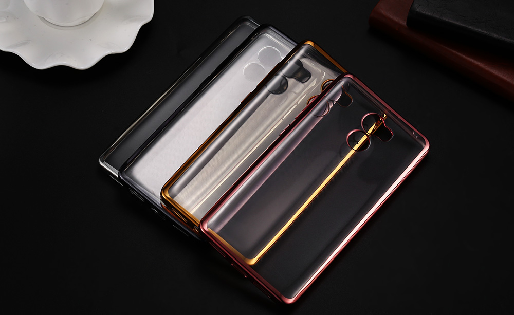 ASLING TPU Soft Protective Phone Case for Xiaomi Redmi 4 Standard Edition Ultrathin Transparent Shell Electroplated Edge