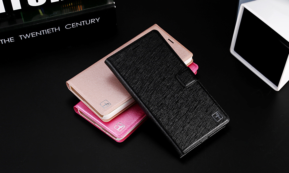 ASLING PU Leather Flip-open Full Body Protective Case for Xiaomi Redmi 4 / 4 High Version with Credit Card Slot Phone Stand Holder