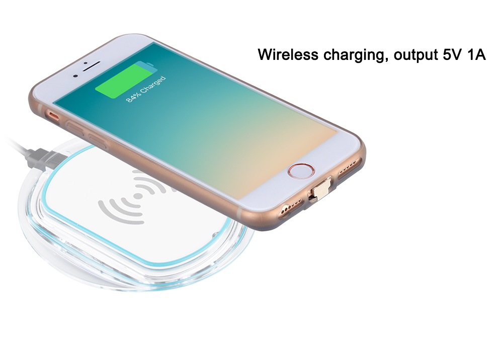 Ultra Slim Wireless Charging Receiver TPU Phone Case Protector Combo for iPhone 6 / 6S / 7