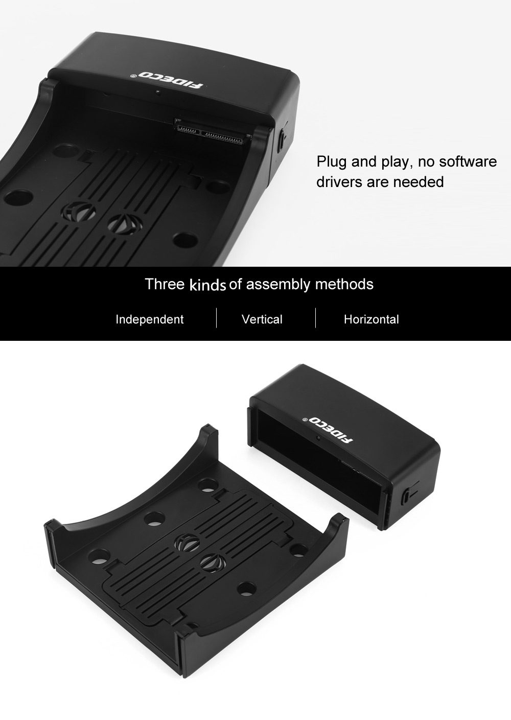 FIDECO YPZ01 USB 3.0 to SATA HDD Docking Station 3 in 1 Hard Drive Disk Case