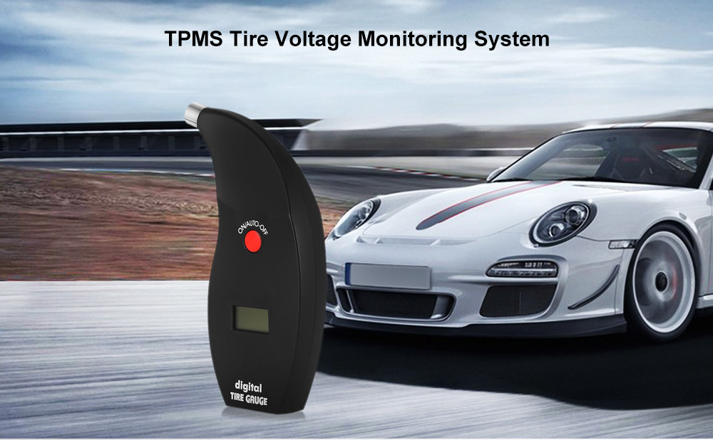 TPMS Tire Gauge Pressure Monitoring System with LCD Display