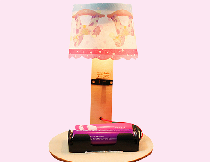 Wooden DIY 3D Puzzle Table Lamp Energy-saving Toy