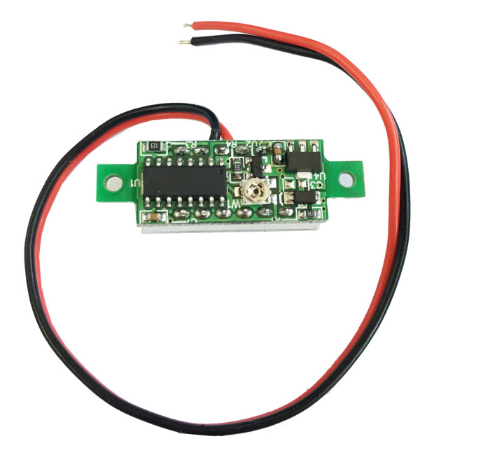 V18D 0.28 inch Red LED DC Voltmeter Module Dual Wire with Fine Adjustment for DIY
