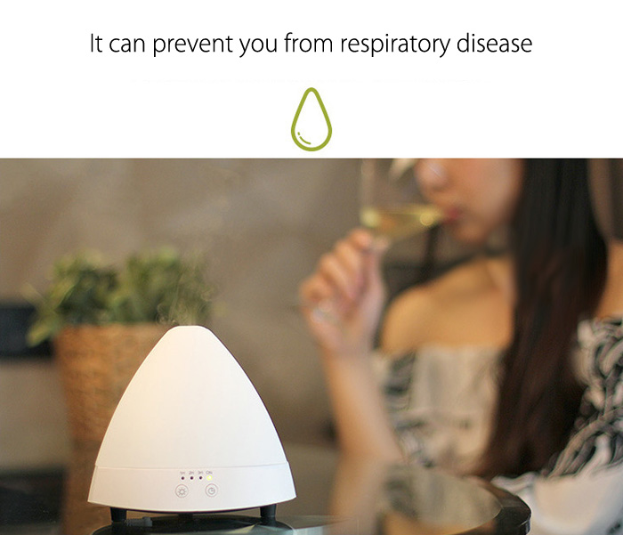 LM - X1 80ml Essential Oil Diffuser Ultrasonic Cool Mist Humidifier for Home Office