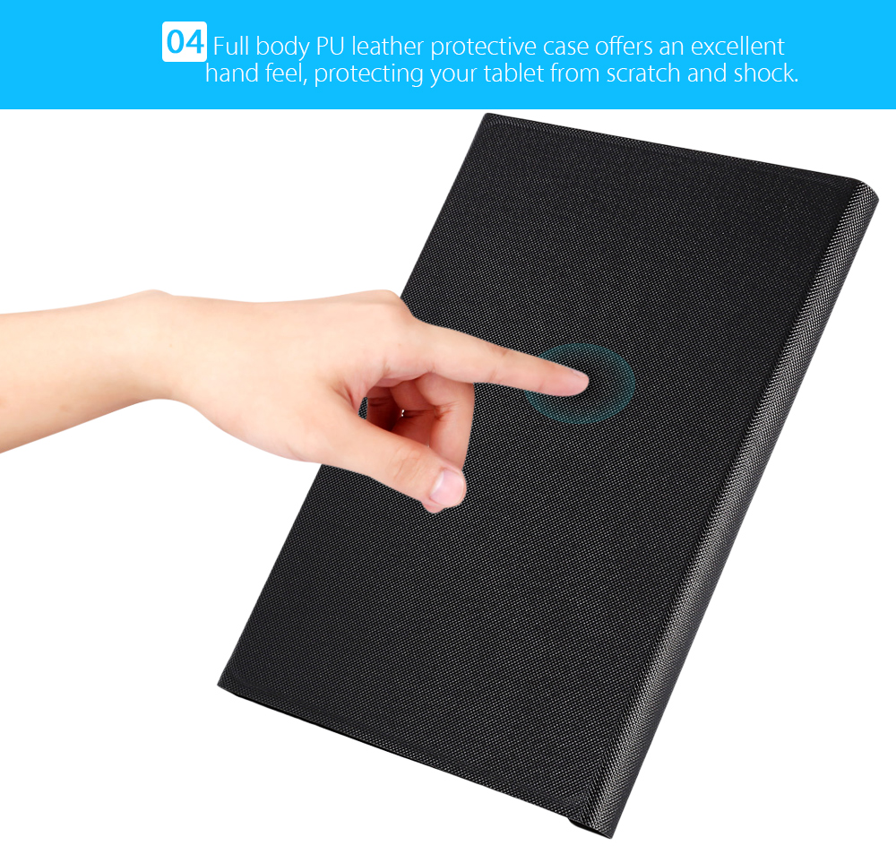 10.0 - A01W PU Leather Protective Bluetooth Keyboard Case for Huawei MediaPad M2