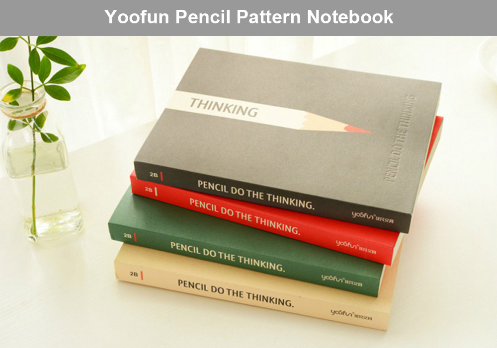Yoofun Notebook Pencil Style Note Book