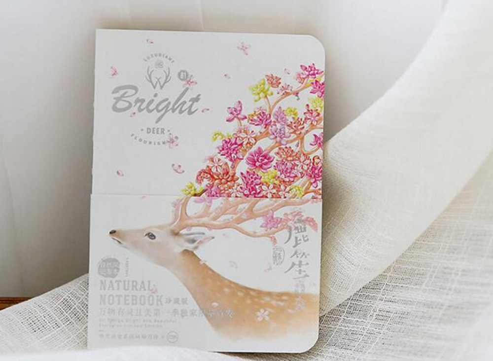 Natural Deer Style Notebook Note Book