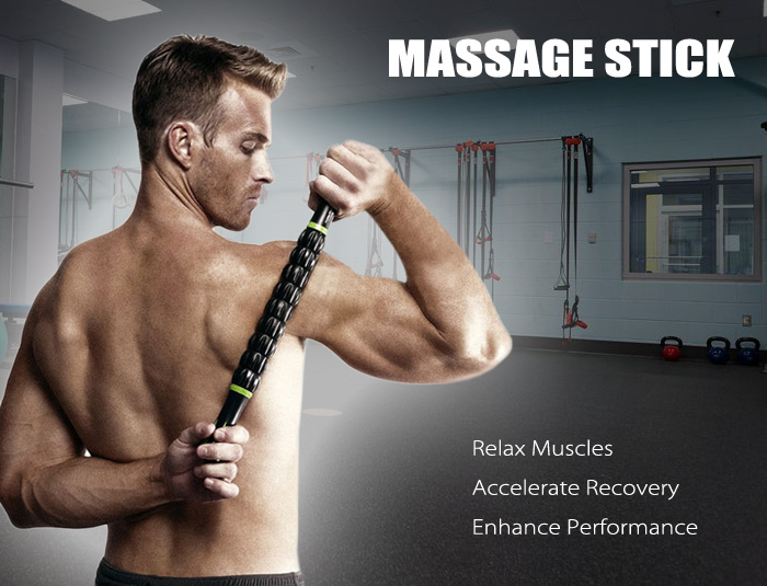 3D Muscle Roller Portable Massage Stick Workout Machine for Relieving Body Soreness Tightness