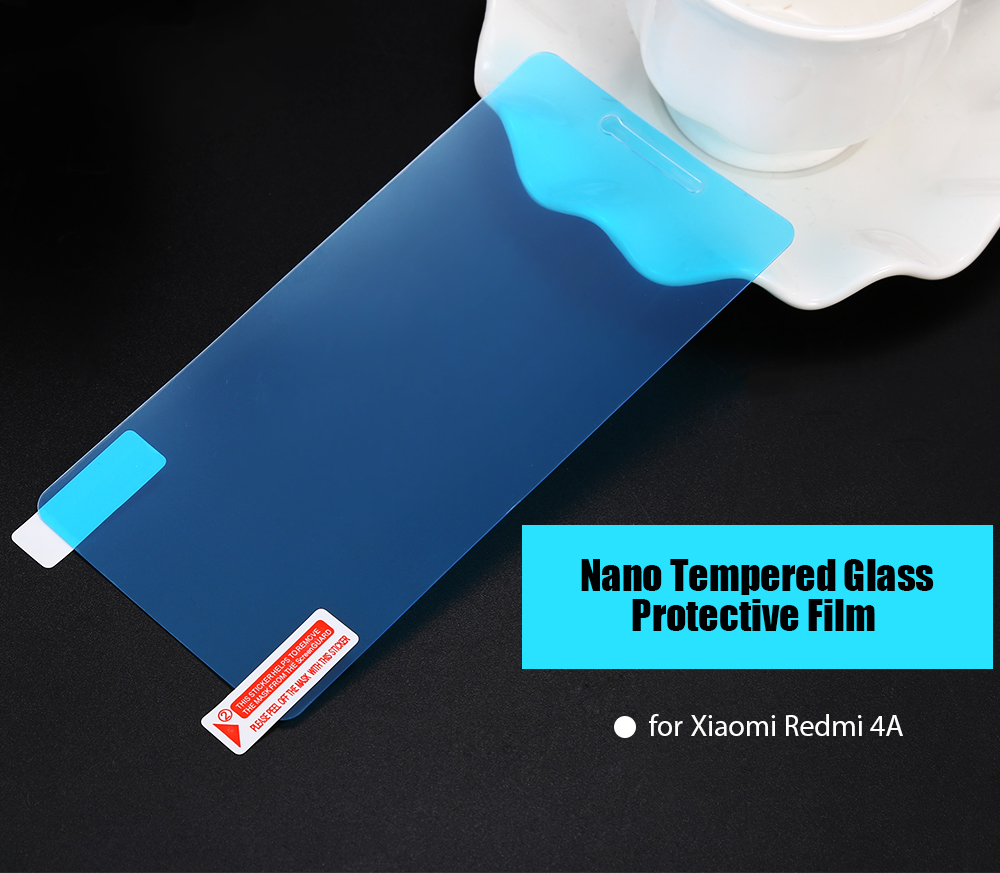 Tempered Glass Nano Screen Protector for Xiaomi Redmi 4A 0.18mm Ultra-thin 9H Explosion-proof Anti-fingerprints Protective Film