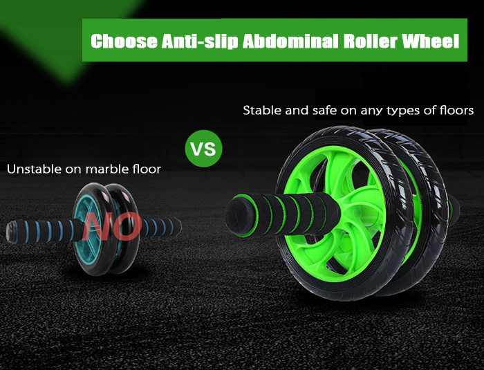 Two-wheel Fitness Ab Wheel Roller Equipment Abdominal Training Machine for Home Gym Core Exercises