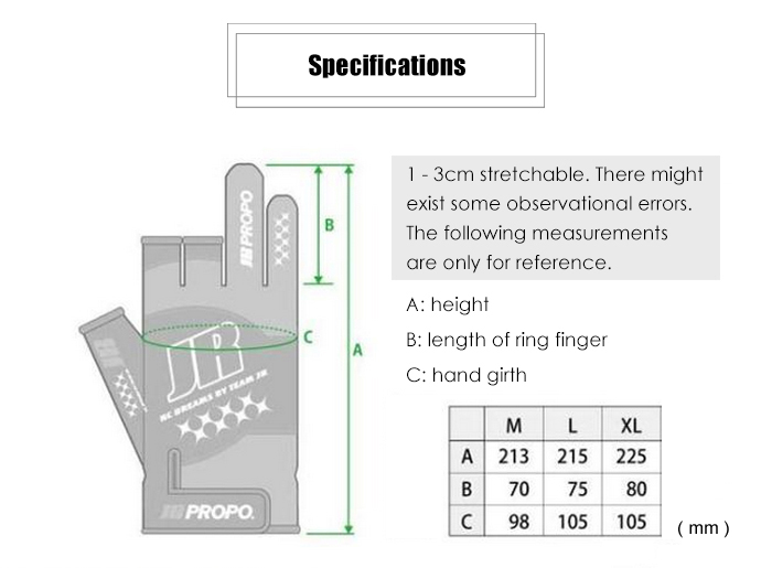 JR PROPO Non-slip Breathable RC Gloves for Winter