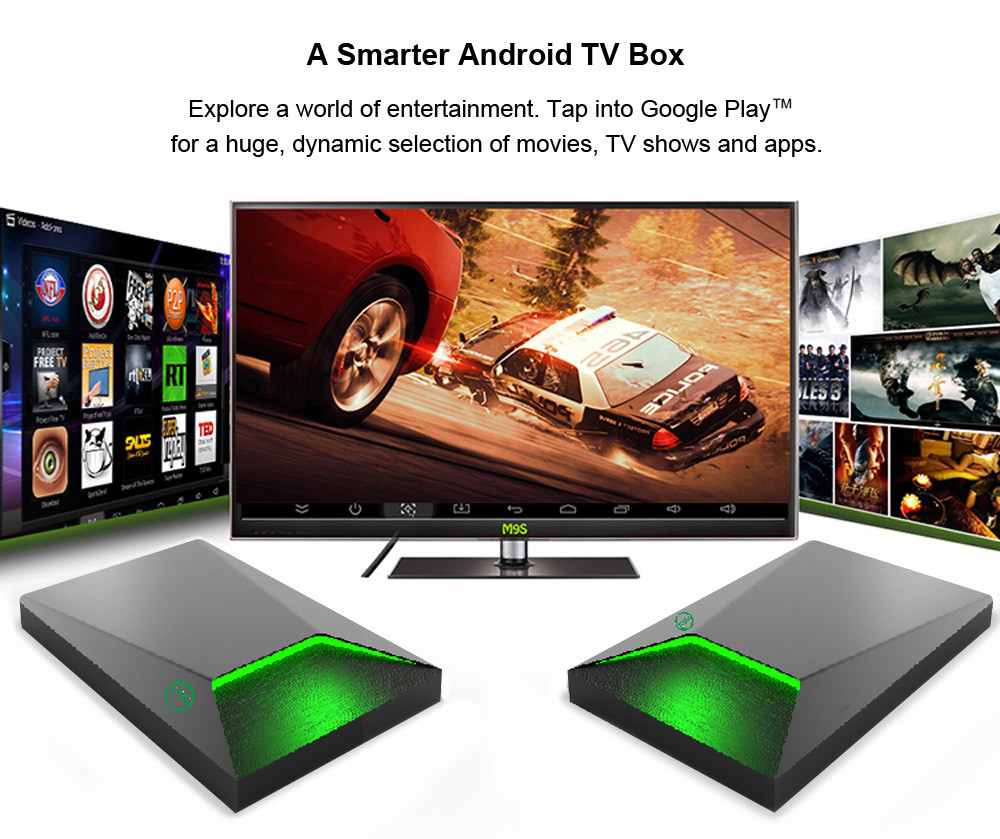 M9S Z9 TV Box Amlogic S912 Octa Core Android 6.0 2.4G + 5G Dual Band WiFi Bluetooth 4.0 2G DDR3 RAM + 16G eMMC ROM