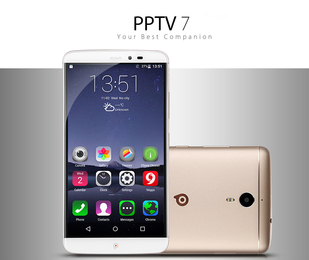 PPTV 7 Android 5.1 6.0 inch 4G Phablet Helio X10 Octa Core 2.0GHz 3GB RAM 32GB ROM 8.0MP + 13.0MP