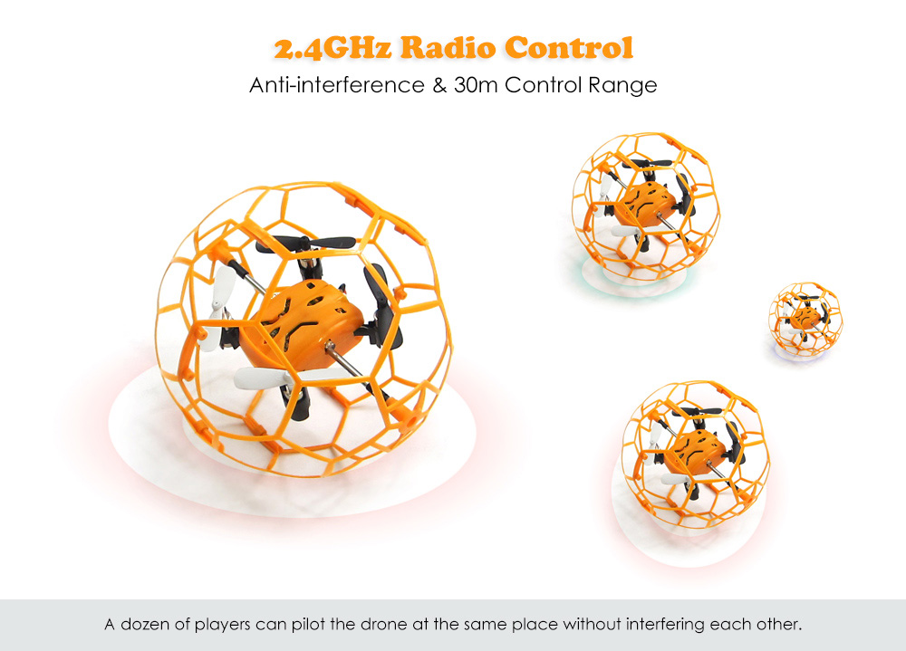 Skytech M70 Mini RC Drone RTF 2.4GHz 4.5CH 6-axis Gyro with Honeycomb Protective Frame / Speed Switch