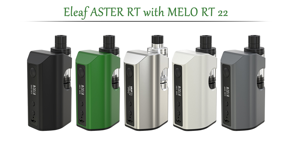 Original Eleaf ASTER RT with MELO RT 22 / 1 - 100W / 200 - 600F / 100 - 315C for E Cigarette