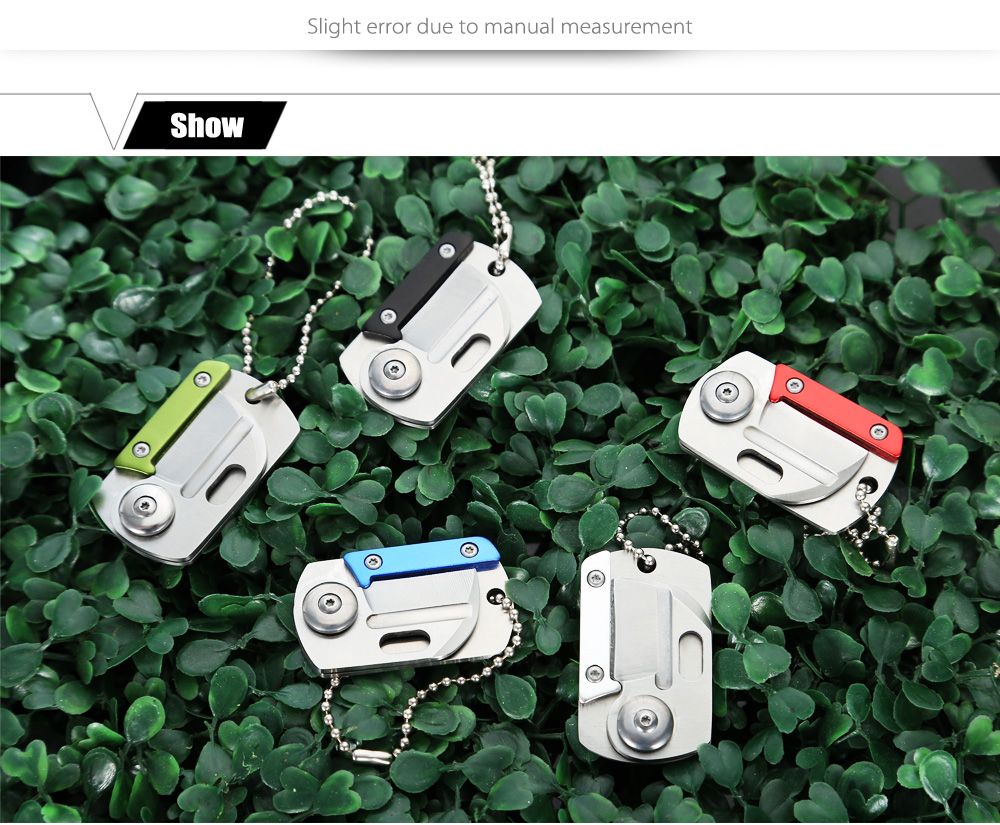 3Cr13Mov Stainless Steel Mini Folding Knife with Chain