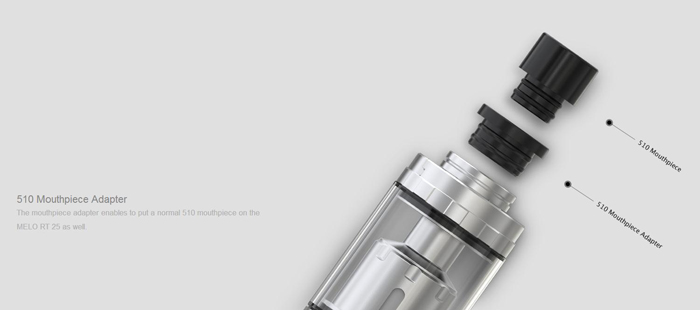 Original Eleaf MELO RT 25 with 4.5ml Capacity / 0.15 ohm / Innovative Retractable Top Filling  for E Cigarette