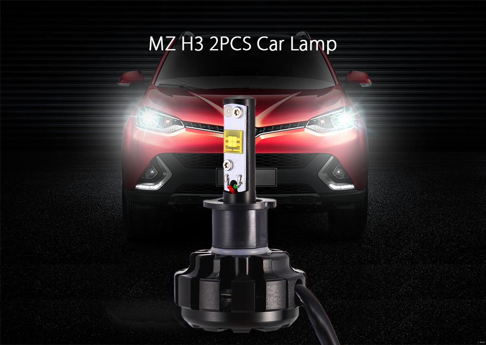 MZ H3 2PCS Car Light 60W 6000K 7200LM 9V - 30V