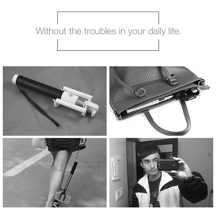 M - ares Bluetooth 4.0 Selfie Stick Phone Case for iPhone 6 / 6S