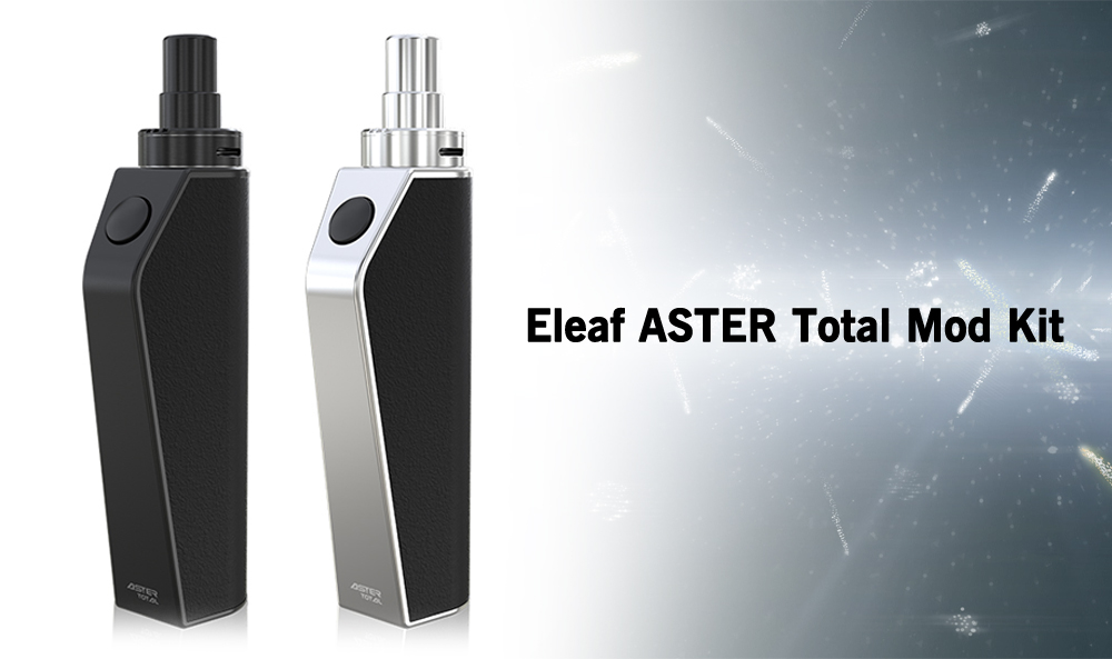 Original Eleaf ASTER Total with 1 - 25W / Built-in 1600mAh Lithium-ion Battery / 1.1 ohm Clearomizer for E Cigarette