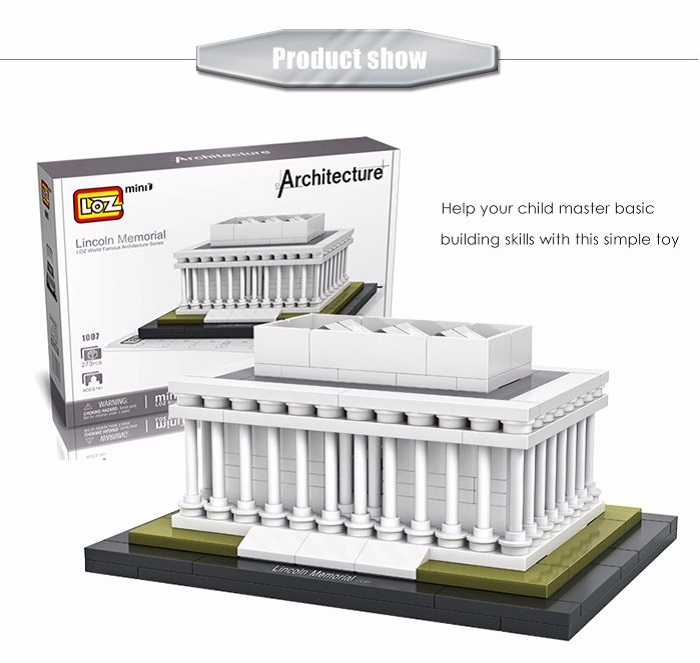 LOZ ABS Architecture Building Block Educational Movie Product Kid Toy - 273pcs