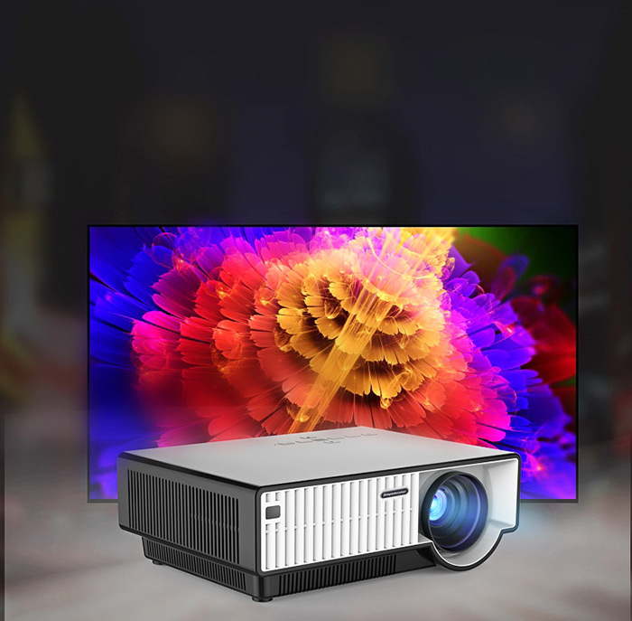 PRW310 Home Theater LED Projector 2800LM 1280 x 800 Pixels with Keystone Correction