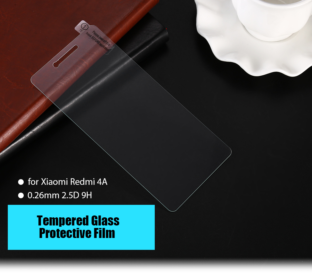 Tempered Glass Screen Protective Film for Xiaomi Redmi 4A Ultra-thin 0.26mm 2.5D 9H Explosion-proof Protector