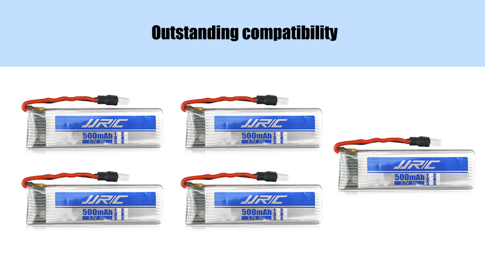 Original JJRC Battery Charging Set 5 x 3.7V 500mAh LiPo + 1 to 5 Balance Charger / Cable for H37 Quadcopter