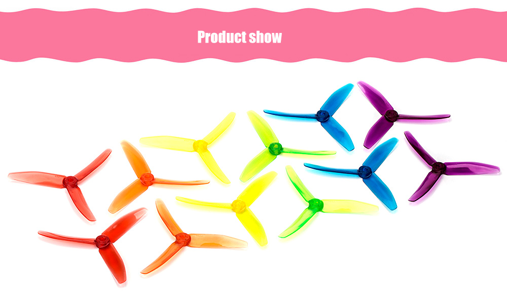 dys XT50403 5040 3-blade Propeller for Racing Multicopter Drone - 6 Pair