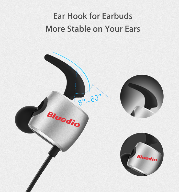 Bluedio TE Wireless Bluetooth In-ear Earbuds for Sports Support Phones Answer Function